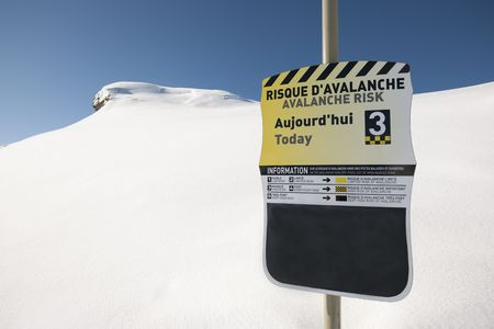 avalanche: avalanche risk, sign in mountain