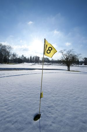 winter sports: golf and snow, france, mionnay