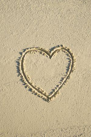 le cap: Corazón en la playa