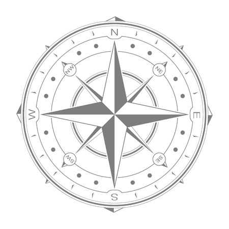 vector icon with compass rose for your design Standard-Bild - 104141977