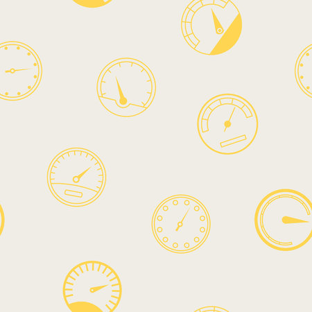 Seamless pattern with speedometers for your design Stock Illustratie
