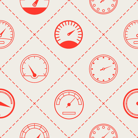 Seamless pattern with speedometers for your design Ilustrace