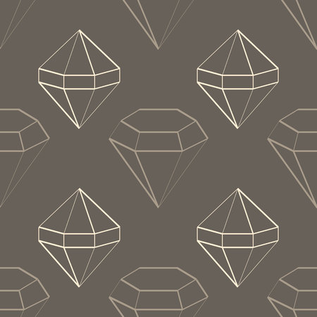 Seamless pattern with jewels and diamonds icons for your design