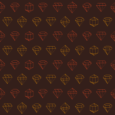 Seamless pattern with jewels and diamonds icons for your design Reklamní fotografie - 105747246