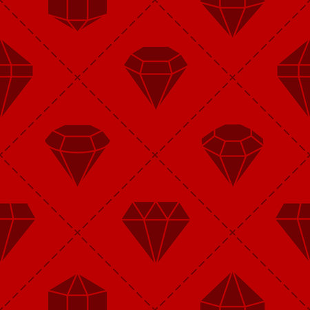 Seamless pattern with jewels and diamonds icons for your design Reklamní fotografie - 105820646