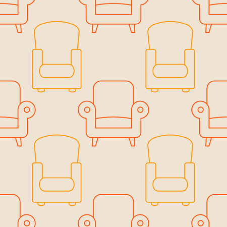 Seamless pattern with chair icons for your design Zdjęcie Seryjne - 105936498