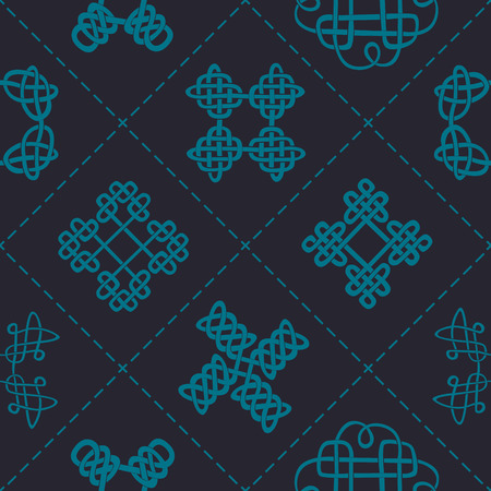 Seamless background with Celtic geometric ornament for your design