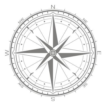 icono de vector con rosa de los vientos para su diseño