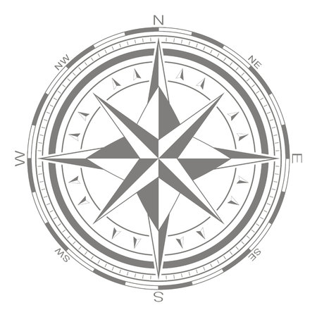 vector icon with compass rose for your design Standard-Bild - 107756038