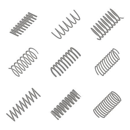 Satz monochromer Symbole mit Federn für Ihr Design