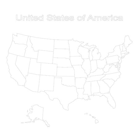 monochrome set of map of united states of america for your design