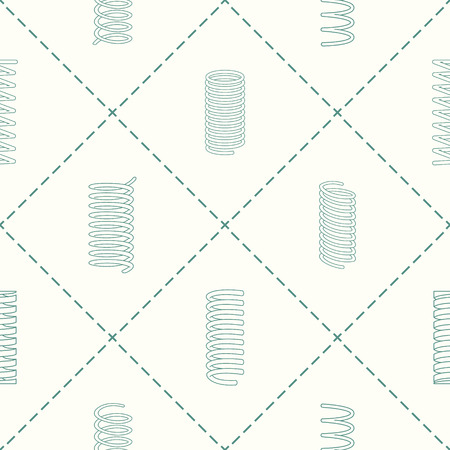 Seamless pattern with Springs for your design