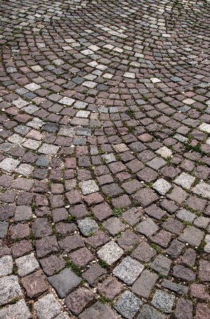 Rural street paved with stone for your design