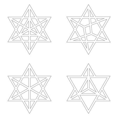 vector icon with Kabbalah symbol Merkaba