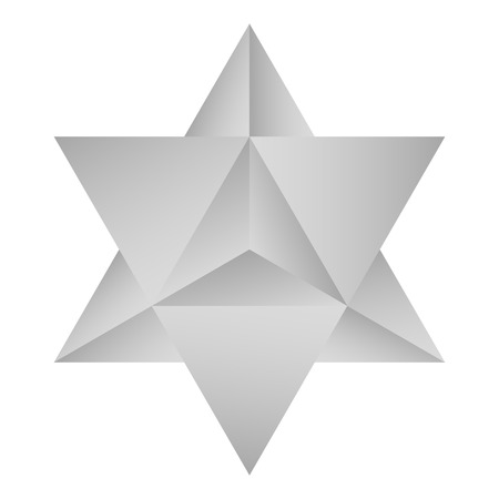 vector icon with Kabbalah symbol Merkaba