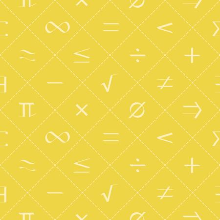 Seamless pattern with mathematical symbols