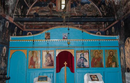 Altar in the Orthodox Chapel in the Balkan Mountains for your design 新聞圖片