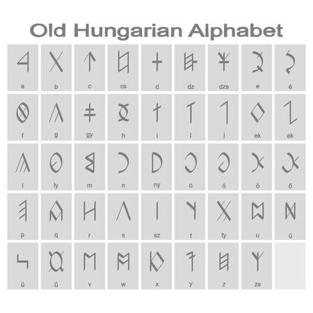 Old hungarian alphabet