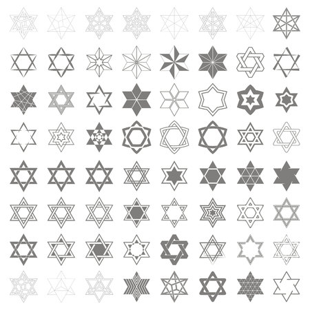 Set of monochrome icons for your design