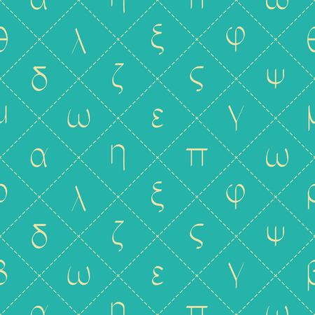 Seamless pattern with old Greek letters for your design