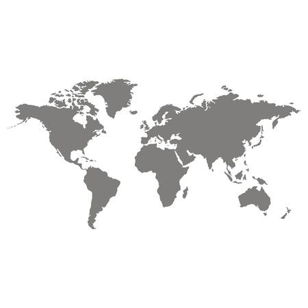 icona vettoriale con mappa del mondo