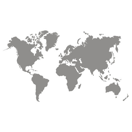 vector icon with world map 矢量图像