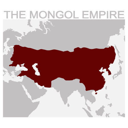 vector map of mongol empire