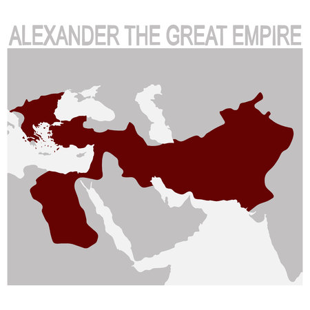 vector map of alexander the great empire Illustration
