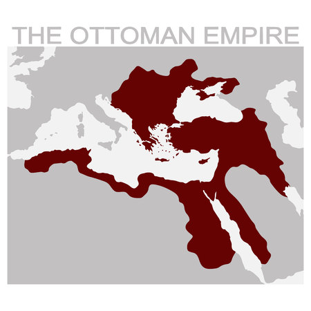 vector map of the ottoman empire Stock Illustratie