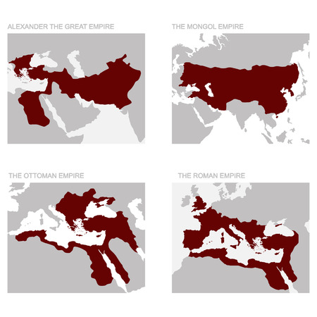 vector map of the ancient empires Illustration