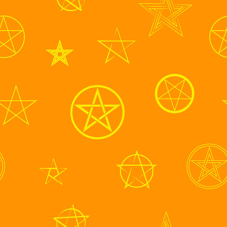 Seamless pattern with pentagrams for your design