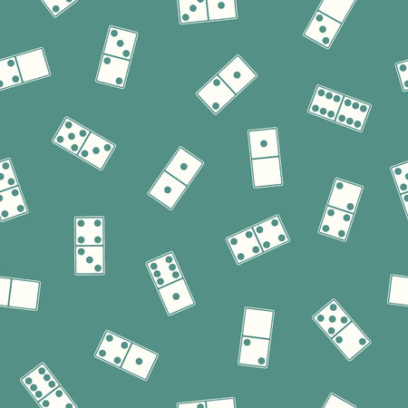 Seamless pattern with Dominoes for your design