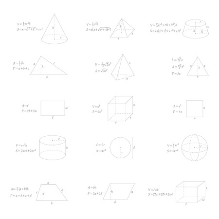 vector set with geometry formulas