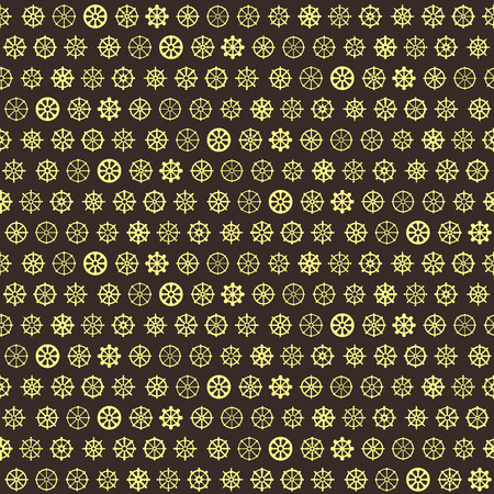 Seamless pattern with dharmachakra