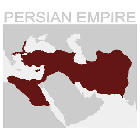 vector map of the Persian Empire