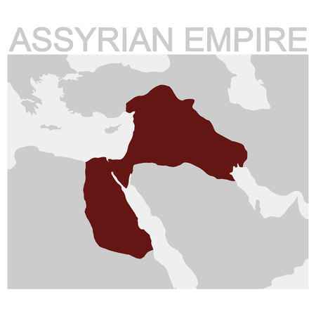 vector map of the Assyrian Empire