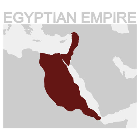 vector map of the Egyptian Empire Illustration