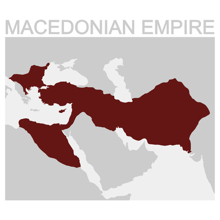 vector map of the Macedonian Empire Çizim