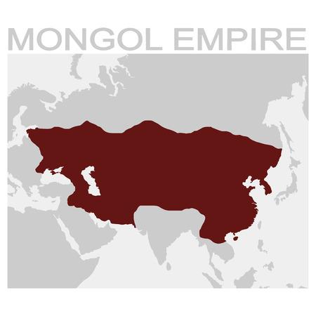 vector map of the Mongol Empire Vektoros illusztráció