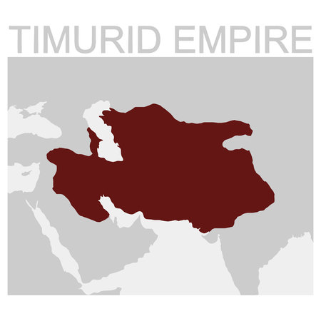 vector map of the Timurid Empire