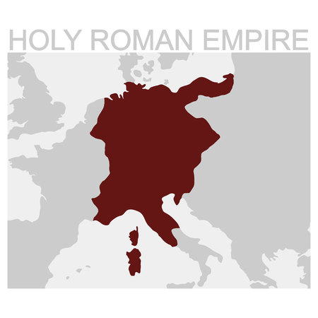 vector map of the Holy Roman Empire 일러스트