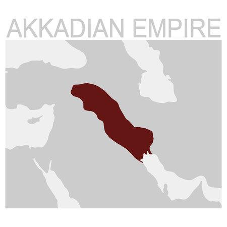 vector map of the Akkadian Empire