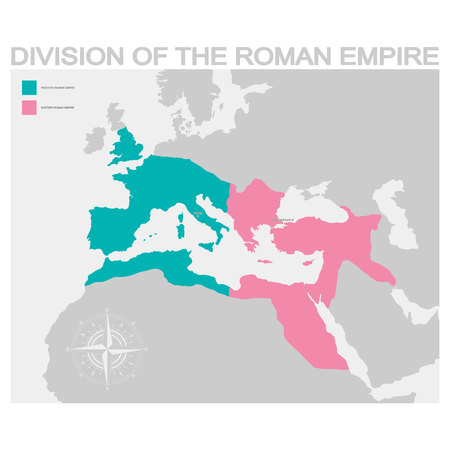 vector map of the Roman Empire Фото со стока - 123491410