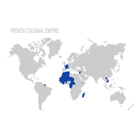vector map of french colonial empire