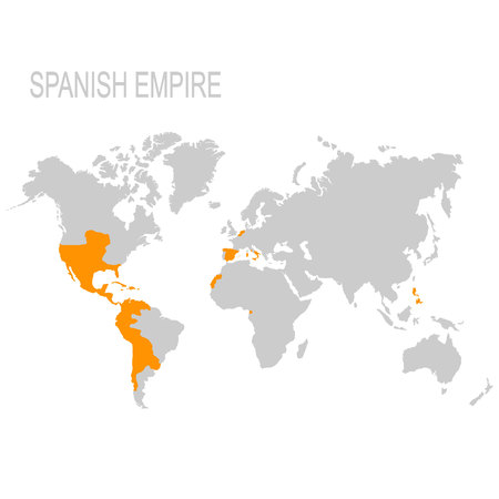 vector map of the Spanish Empire