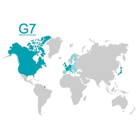 vector map of the group of seven Foto de archivo - 123257169