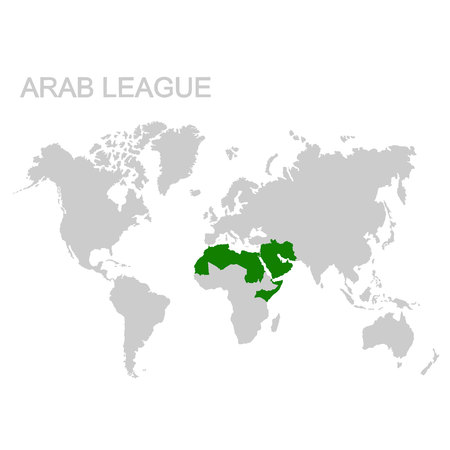 map of the Arab League Stock Illustratie