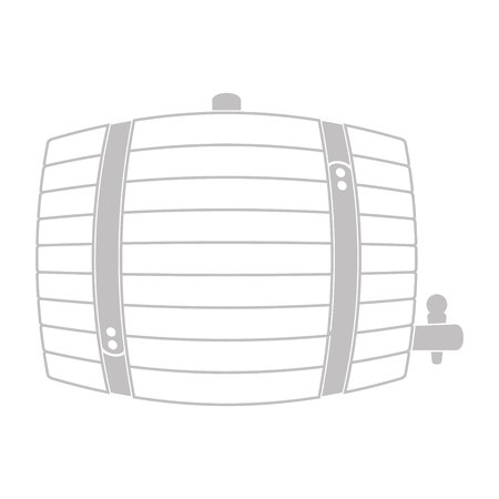 vector icon with wooden barrel for your design Stock Illustratie