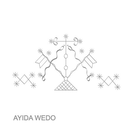 veve vodoo symbol Ayida Weddo Illustration
