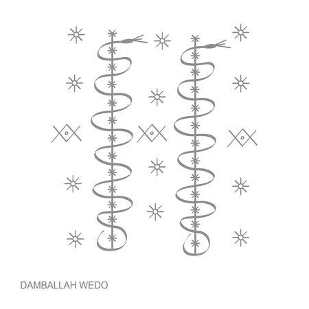 veve vodoo symbol Damballah Weddo